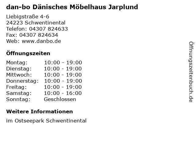 dan-bo Dänisches Möbelhaus Jarplund in Schwentinental: Adresse und Öffnungszeiten