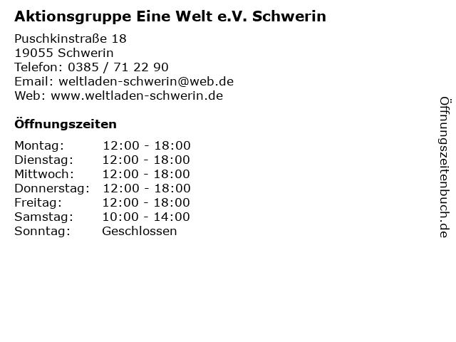 Aktionsgruppe Eine Welt e.V. Schwerin in Schwerin: Adresse und Öffnungszeiten