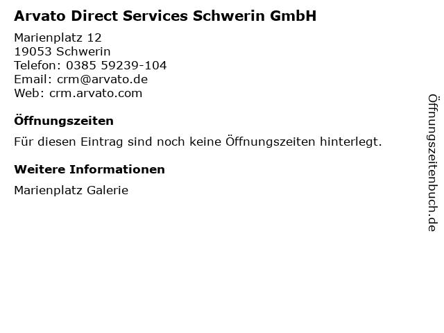 Arvato Direct Services Schwerin GmbH in Schwerin: Adresse und Öffnungszeiten