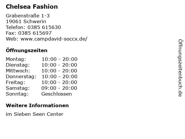 Chelsea Fashion in Schwerin: Adresse und Öffnungszeiten