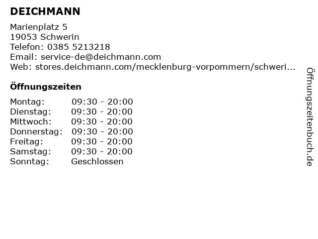 Deichmann Schuhe in Schwerin: Adresse und Öffnungszeiten