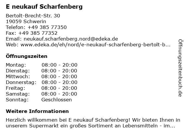 E neukauf Scharfenberg in Schwerin: Adresse und Öffnungszeiten