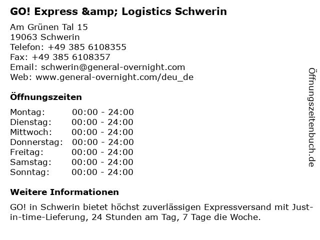 GO! Express & Logistics Schwerin in Schwerin: Adresse und Öffnungszeiten