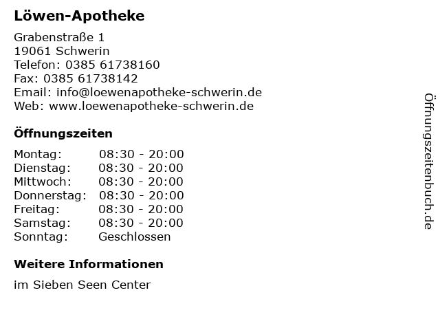 Löwen-Apotheke in Schwerin: Adresse und Öffnungszeiten