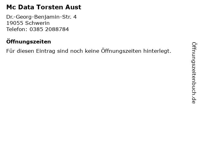 Mc Data Torsten Aust in Schwerin: Adresse und Öffnungszeiten