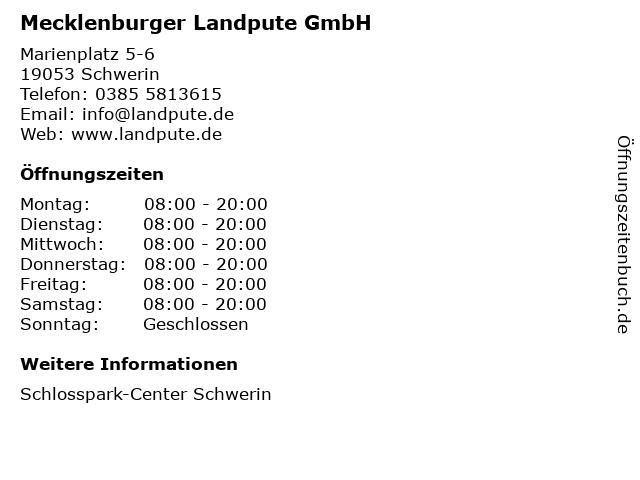 Mecklenburger Landpute GmbH in Schwerin: Adresse und Öffnungszeiten