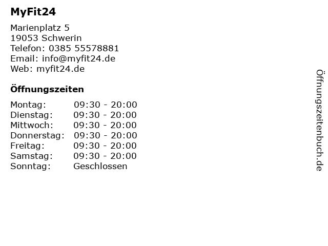 MyFit24 in Schwerin: Adresse und Öffnungszeiten