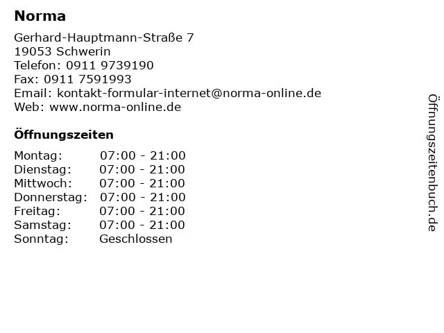 Norma in Schwerin: Adresse und Öffnungszeiten
