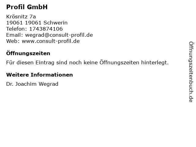 PROFIL GMBH in Schwerin: Adresse und Öffnungszeiten
