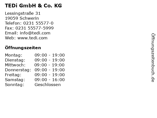 TEDi GmbH & Co. KG in Schwerin: Adresse und Öffnungszeiten