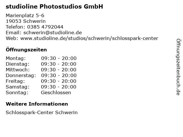 studioline Photostudios GmbH in Schwerin: Adresse und Öffnungszeiten