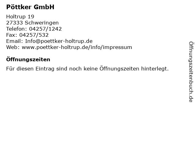 Pöttker GmbH in Schweringen: Adresse und Öffnungszeiten