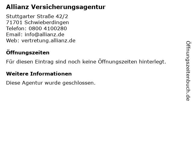 Allianz Vertretung Thomas Gerl in Schwieberdingen: Adresse und Öffnungszeiten