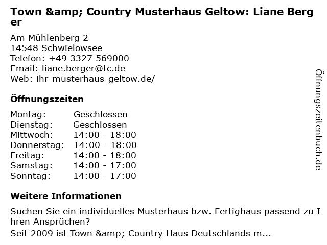 Haus und Industrieservice GmbH - Musterhaus in Schwielowsee OT Geltow: Adresse und Öffnungszeiten