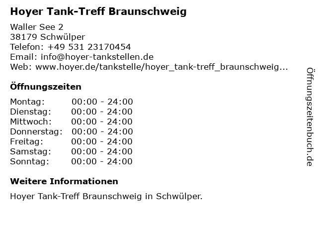 Tank-Treff in Schwülper: Adresse und Öffnungszeiten