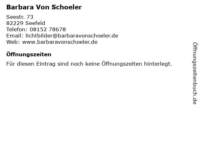 Barbara Von Schoeler in Seefeld: Adresse und Öffnungszeiten