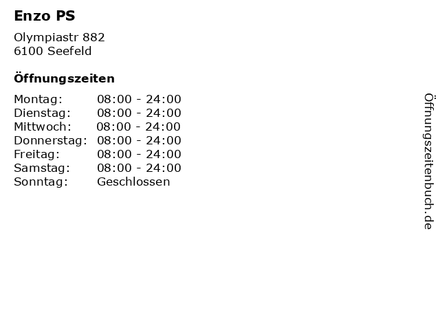 Enzo PS in Seefeld: Adresse und Öffnungszeiten