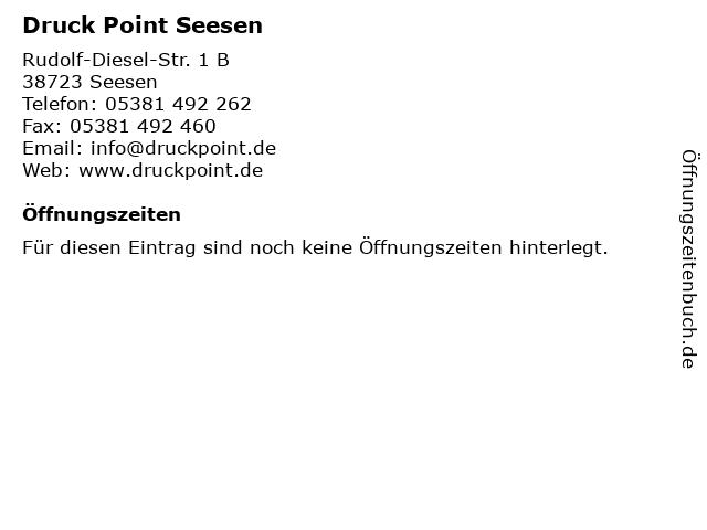 Druck Point Seesen in Seesen: Adresse und Öffnungszeiten