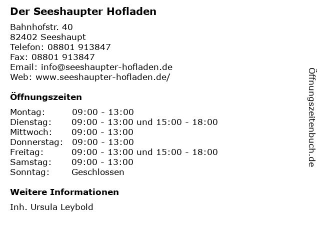 Der Seeshaupter Hofladen in Seeshaupt: Adresse und Öffnungszeiten