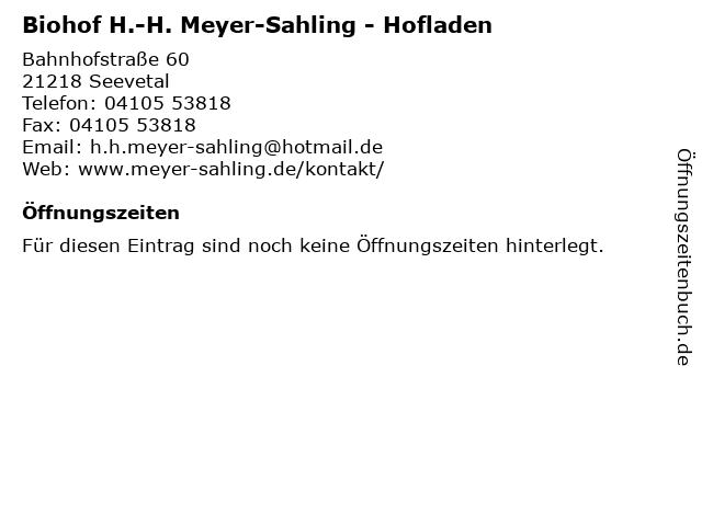 Hans-Hermann Meyer-Sahling in Seevetal: Adresse und Öffnungszeiten
