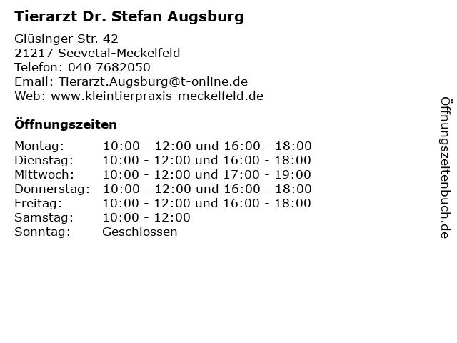Tierarzt Dr. Stefan Augsburg in Seevetal-Meckelfeld: Adresse und Öffnungszeiten
