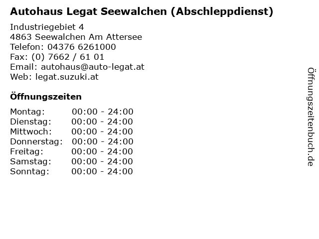 Autohaus Legat Seewalchen (Abschleppdienst) in Seewalchen Am Attersee: Adresse und Öffnungszeiten