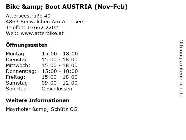 Bike & Boot AUSTRIA (Nov-Feb) in Seewalchen Am Attersee: Adresse und Öffnungszeiten