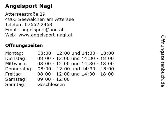 Angelsport Nagl in Seewalchen am Attersee: Adresse und Öffnungszeiten