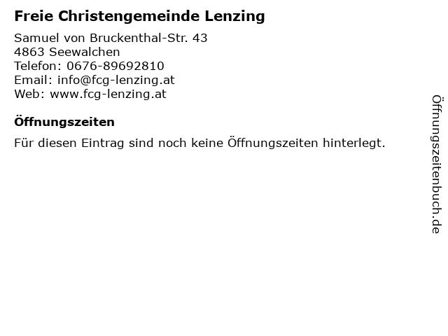 Freie Christengemeinde Lenzing in Seewalchen: Adresse und Öffnungszeiten