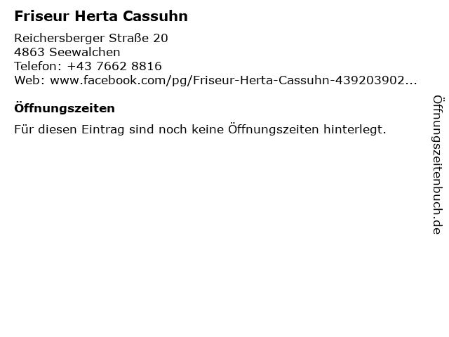 Friseur Herta Cassuhn in Seewalchen: Adresse und Öffnungszeiten