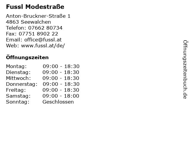 Fussl Modestraße in Seewalchen: Adresse und Öffnungszeiten