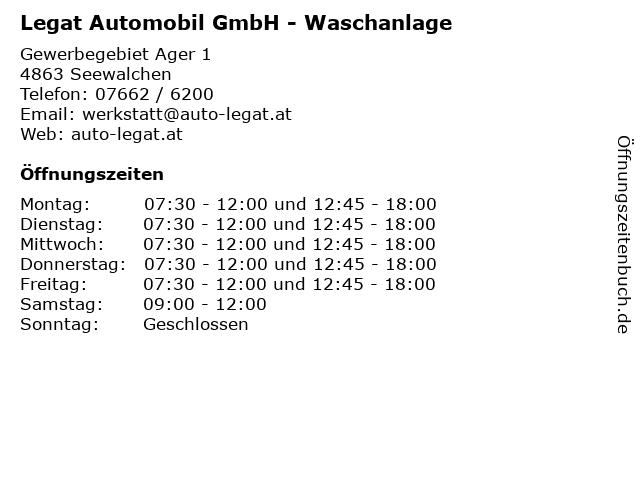 Legat Automobil GmbH - Waschanlage in Seewalchen: Adresse und Öffnungszeiten