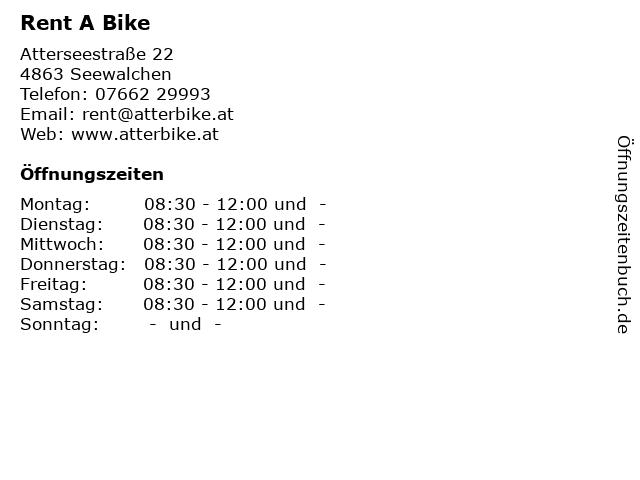 Rent A Bike in Seewalchen: Adresse und Öffnungszeiten