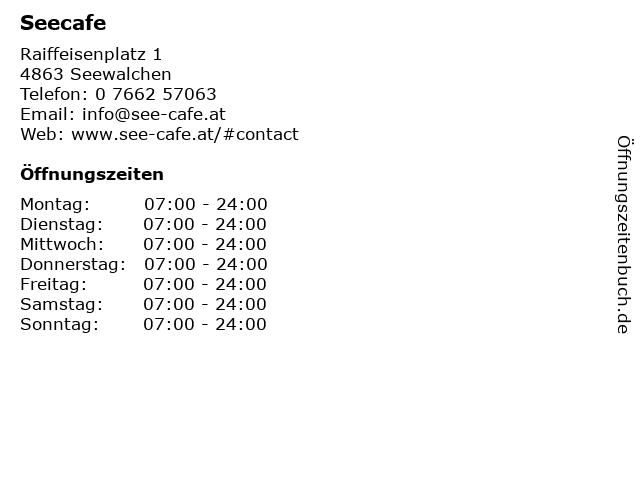 Seecafe in Seewalchen: Adresse und Öffnungszeiten