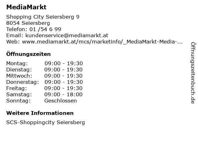 MediaMarkt in Seiersberg: Adresse und Öffnungszeiten