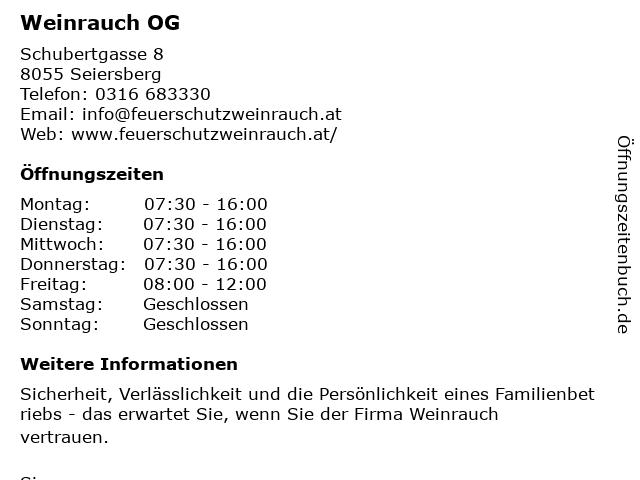 Weinrauch OG in Seiersberg: Adresse und Öffnungszeiten