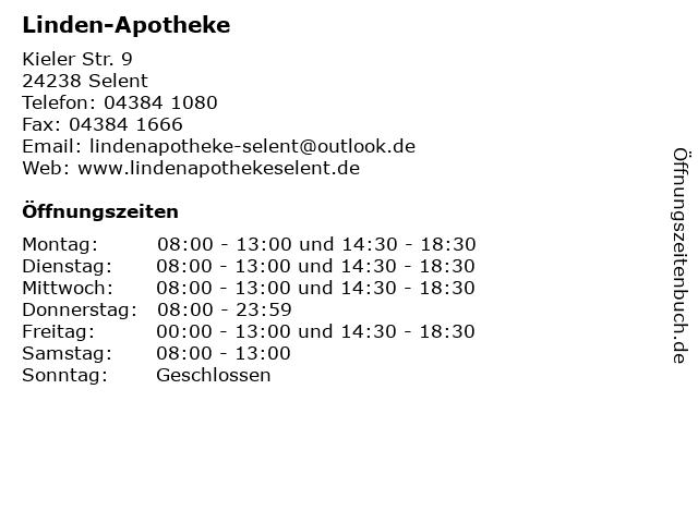 Linden-Apotheke in Selent: Adresse und Öffnungszeiten