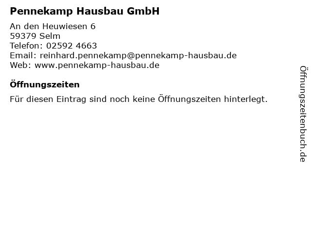 Pennekamp Hausbau GmbH in Selm: Adresse und Öffnungszeiten