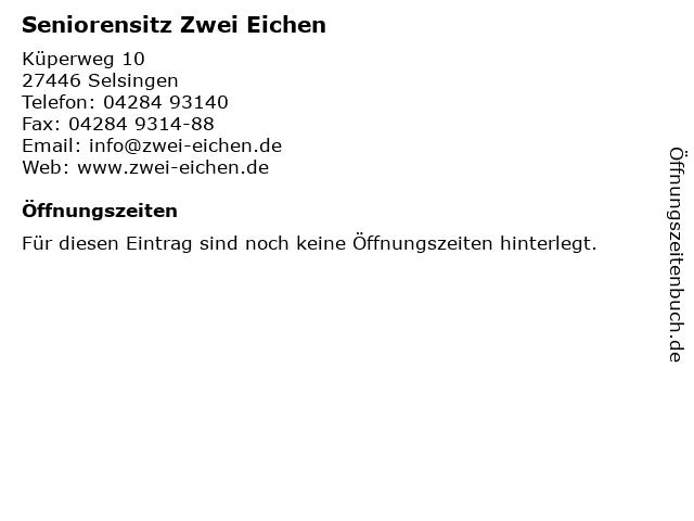 Seniorensitz Zwei Eichen in Selsingen: Adresse und Öffnungszeiten
