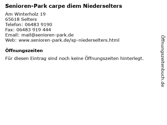 Senioren-Park carpe diem Niederselters in Selters: Adresse und Öffnungszeiten