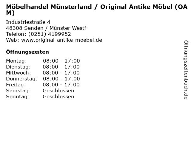 ᐅ öffnungszeiten Möbelhandel Münsterland Original Antike Möbel
