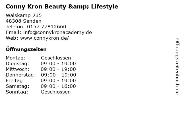 Conny Kron Beauty & Lifestyle in Senden: Adresse und Öffnungszeiten