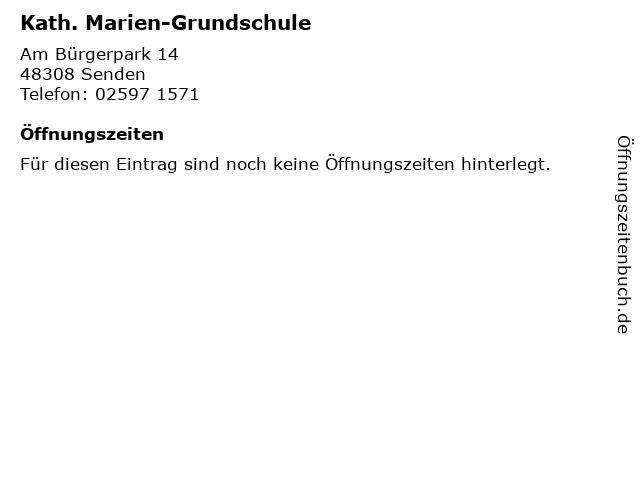 Kath. Marien-Grundschule in Senden: Adresse und Öffnungszeiten