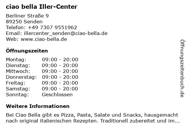 ciao bella Iller-Center in Senden: Adresse und Öffnungszeiten