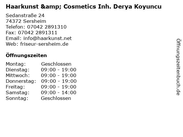 Haarkunst & Cosmetics Inh. Derya Koyuncu in Sersheim: Adresse und Öffnungszeiten