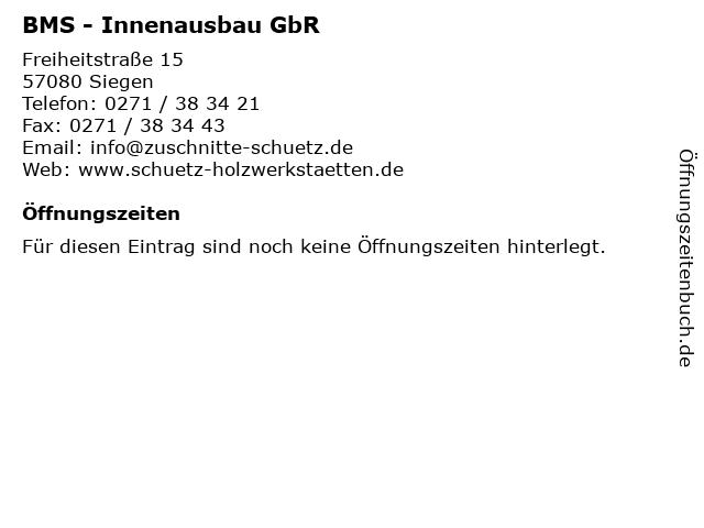 BMS - Innenausbau GbR in Siegen: Adresse und Öffnungszeiten