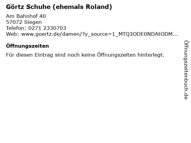 ROLAND Schuhe in Siegen: Adresse und Öffnungszeiten