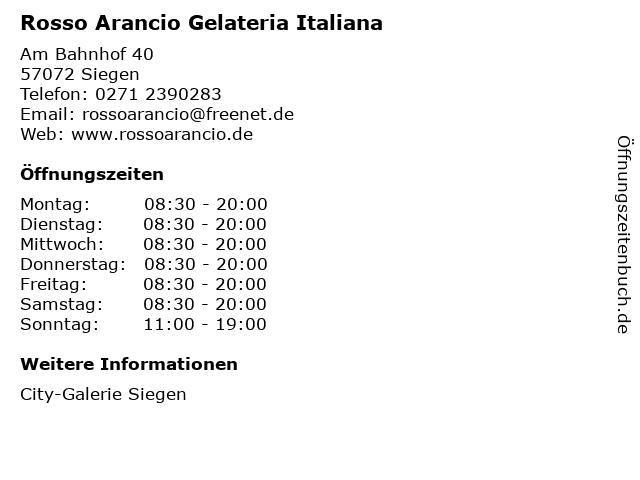 Rosso Arancio Gelateria Italiana in Siegen: Adresse und Öffnungszeiten