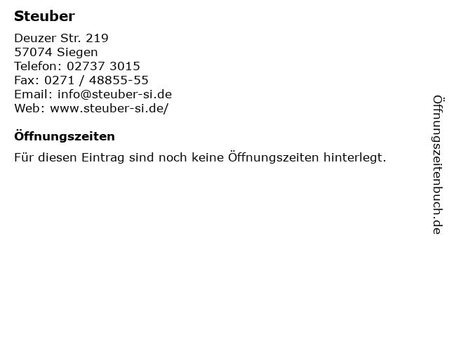 Steuber in Siegen: Adresse und Öffnungszeiten