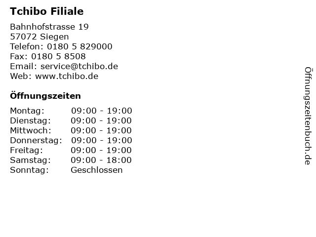 Tchibo Filiale in Siegen: Adresse und Öffnungszeiten